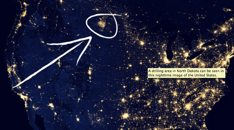North Dakota Oil Boom From Space | First Here, Then Everywhere